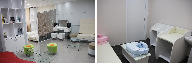 여직원 휴게실(좌) 및 모성보호 시설(우).jpg